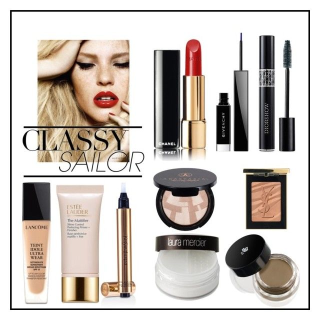 """Classic"" by kiwijulin on Polyvore featuring beauty, Lancôme, Estée Lauder, Laura Mercier, Yves Saint Laurent, Anastasia Beverly Hills, Givenchy, Christian Dior and Chanel"