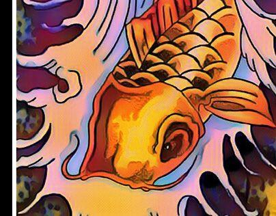 POP KOI  #color. http://be.net/gallery/43716529/POP-KOI