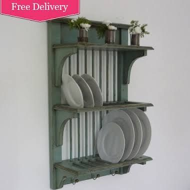vintage wooden plate drying rack - Google Search