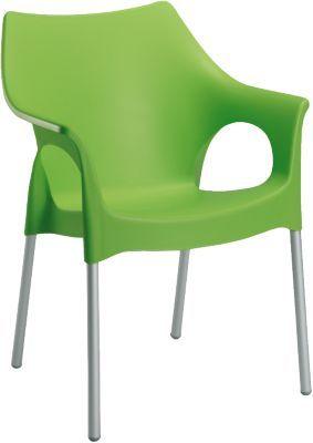 #Unisex #Kunststoff #Gartenstuhl #Finja #stapelbar #grün Der Gartenstuhl ´´Finja´´ steht selbstbewusst und einladend auf Terrassen, auf dem Balkon, in Cafes und selbstverständlich auch im modernen Wohnbereich. Die körpergerecht geformte massive Kunststoffschale im klassischen Retro-Look bietet einen herrlichen Sitzkomfort. Die seidenmatte Oberfläche der Sitzschale sowie das eloxierte Aluminiumgestell unterstreichen die besondere Optik des Sessels. Bei Platzbedarf lässt sich dieser Stuhl…