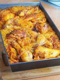 Szefowa w swojej kuchni. ;-): Kurczak pieczony na ryżu