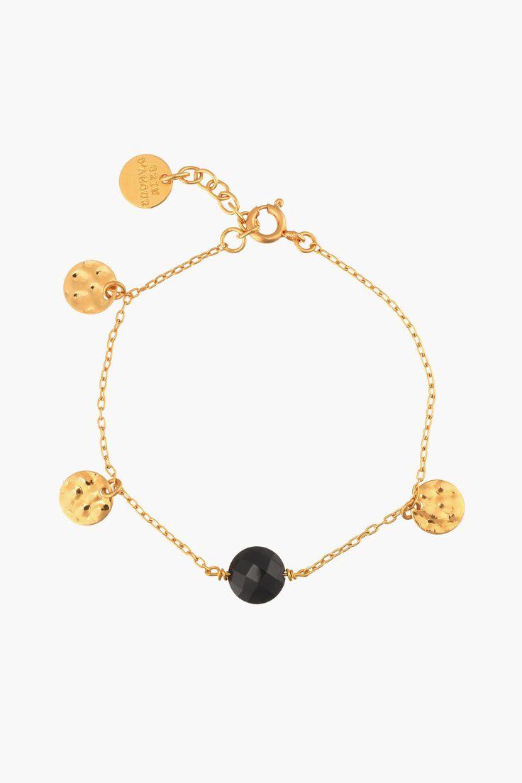 Bracelet doré perle noire Irresistible - Brin D'amour By Sandra