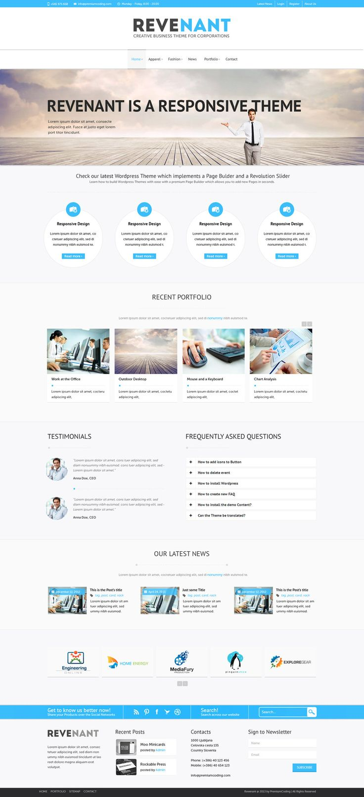 Revenant   Free PSD Template. Design WebGraphic ...