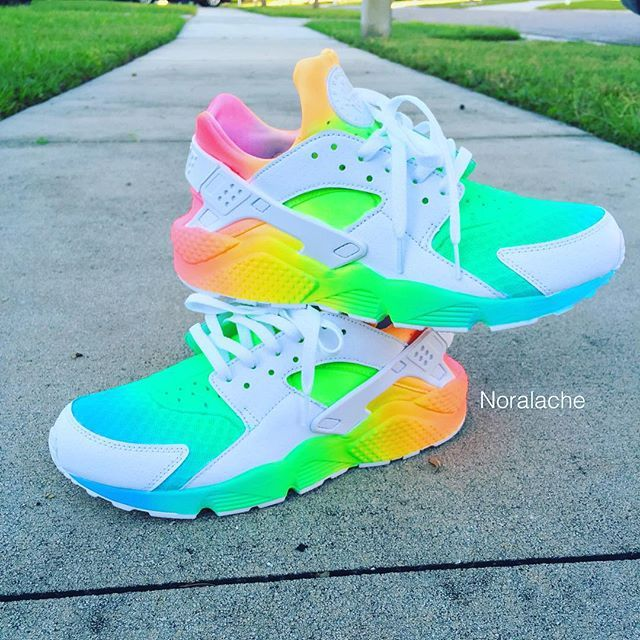 sports shoes d935e 39404 greece nike huarache rainbow sparkly d7a4c 54dd3