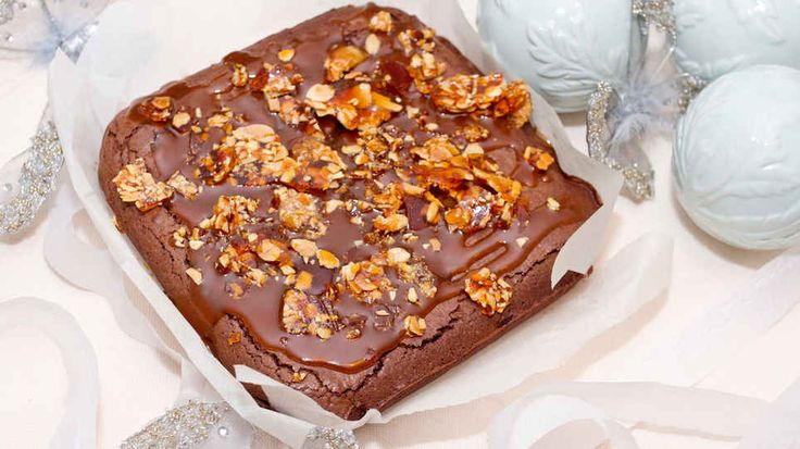Indulgent Salted Caramel and Almond Crunch Brownie Recipe