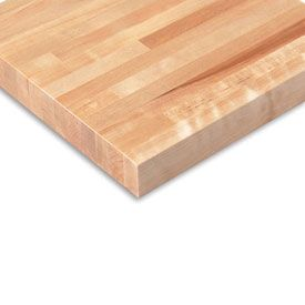 """72""""W x36""""D x 1-3/4"""" Thick, Finished Birch Butcher Block Square Edge Workbench Top"""