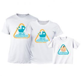 Set tricouri Familie - Atentie! Baietel la plimbare