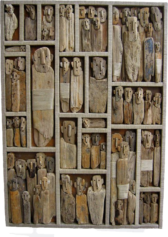 Interesting and quite captivating driftwood art by Marc Bourlier. Click the picture for a great collection. | Wood love