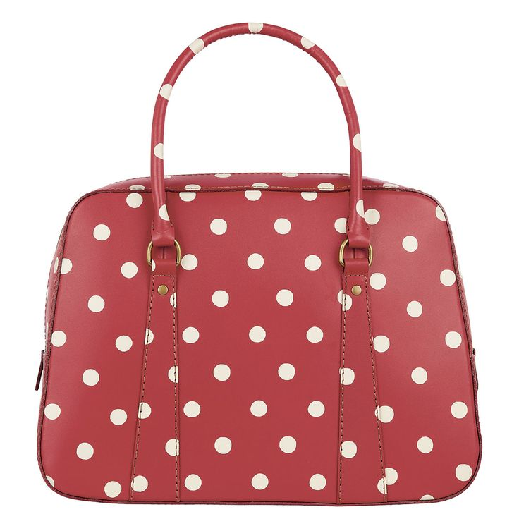 Leather Accessories | Spot Leather Bowling Bag | CathKidston