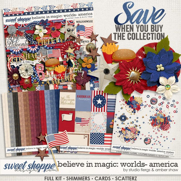 Believe in Magic: Worlds - America Collection by Amber Shaw & Studio Flergs