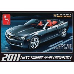 1/25 2011 Camaro Convertible by AMT. $20.26. This plastic model kit requires plastic cement and paint for assembly, and they are sold separately.. 1/25 Scale. Curbside Model no engine detail. A Modern-Day Muscle Car! AMT continues its line of Showroom Replicas curbside style kits with the 2011 Camaro Convertible. Featuring a reduced parts count with engine detail engraved into the chassis pan, Showroom Replicas kits assemble quickly and easily for a superb display model. All n...