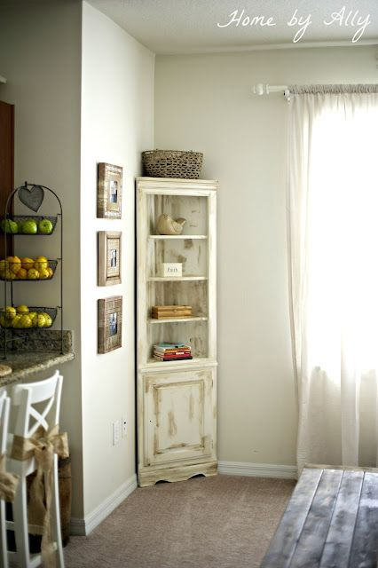 home by ally custom corner hutch how to - Dining Room Corner Hutch