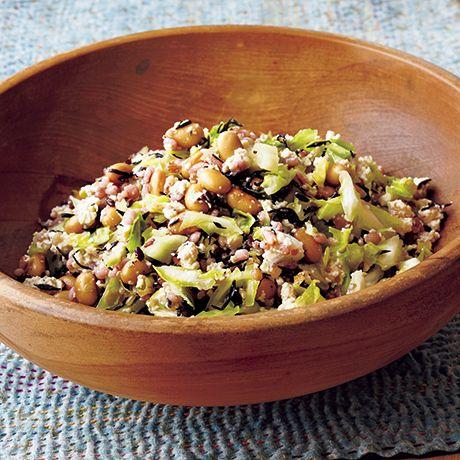 雑穀米と塩もみキャベツのヘルシーサラダ | 堤人美さんのサラダの料理レシピ | プロの簡単料理レシピはレタスクラブネット