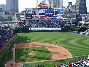 "Progressive Field, formerly ""Jacobs Field"", Cleveland Indians, Cleveland, Ohio, Built in 1994"