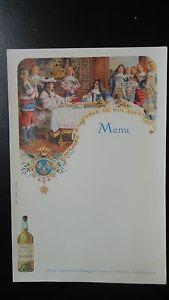 Menu publicitaire #Chartreuse ancien - Molière à la table du Roi Louis XIV