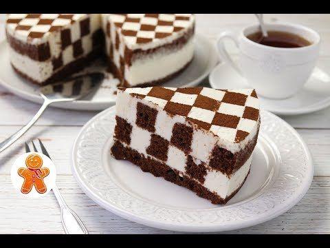 Minha professora me ensinou este maravilhoso bolo de tabuleiro de xadrez passo a passo   Receitas Do Céu