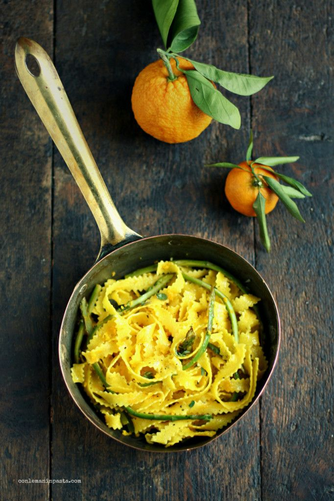 Citrus and Asparagus Pasta Recipe (use gluten-free spaghetti)