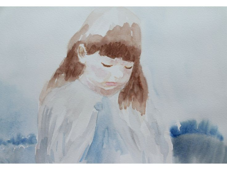 "Emilia Mundt | Arte Al Límite | Revista Periódico Web ""Tristeza"" acuarela, 26 x 36 cm, 2013"