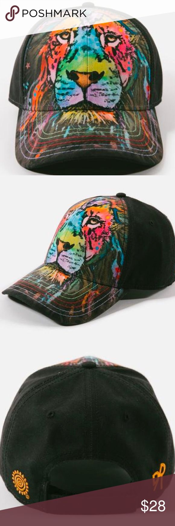 Mane Lion Hat By Dean Russo- O/S Fits Most Assembled from 100% Polyester Velcro Adjustable Strap Low Profile, Six Panel Construction Tri-Colored Stitching on visor Embroidered Dean Russo logo on the back Responsibly sourced overseas Produced using sustainable environmental and social practices One size fits most Dean Russo Accessories Hats