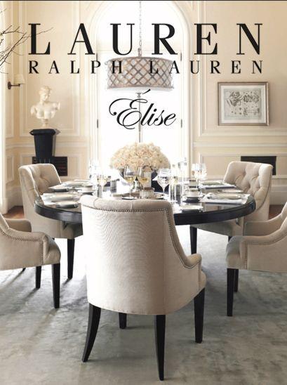 Field notes new elise collection from lauren ralph lauren for Ralph lauren dining room ideas