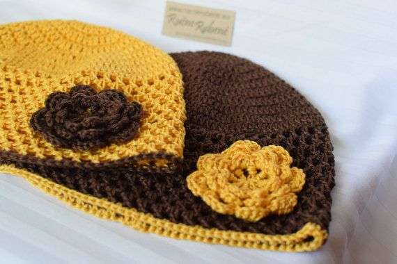 Cap with flower by RucneRobene on Etsy
