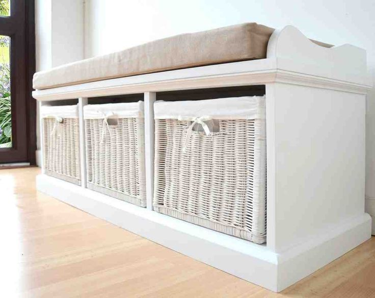 bench with cushion and storage
