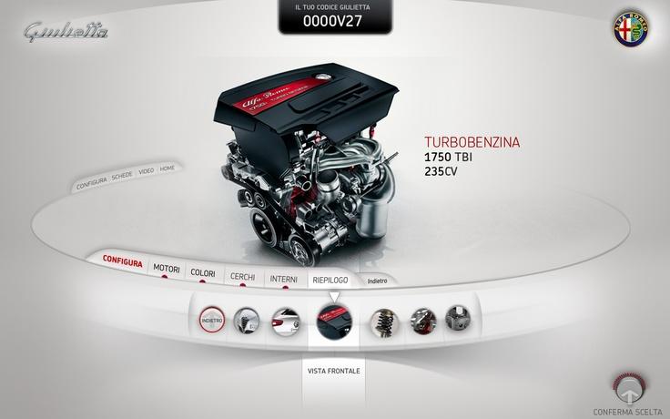 Alfa Giulietta - Interactive Kiosk on the Behance NetworkWebdesign, Ui Design, Web Design, Alfa Romeo, Interface Design, Web Ui, Interactive Kiosk, Alfa Giulietta, Behance Network