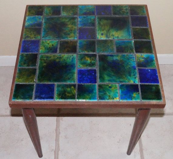 Reserved For Greg Mosaic Tile Top Table Mersman Furniture Co