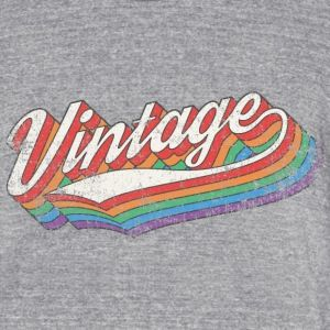 Vintage used – Unisex Tri-Blend T-Shirt by American Apparel