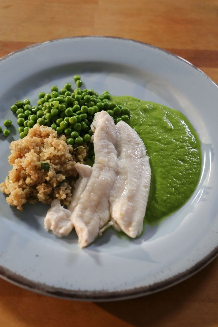 Recept 'Quinoa met steenbolk en erwtjes '   njam!