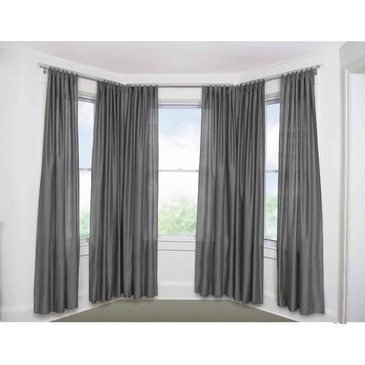 best 25 bay window curtain rod ideas on pinterest bay window cost curtains for bay windows. Black Bedroom Furniture Sets. Home Design Ideas