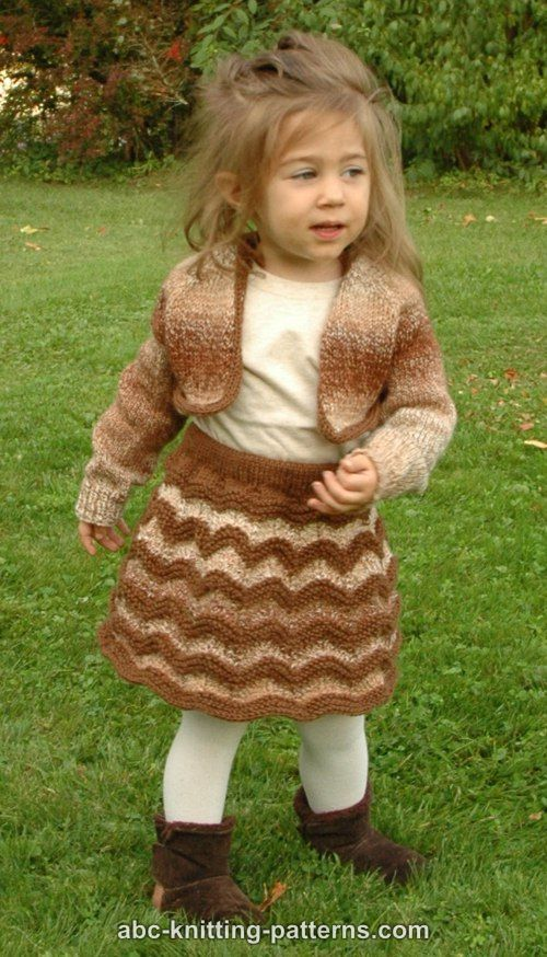 ABC Knitting Patterns - Autumn Gale Child's Cropped Cardigan