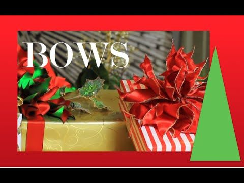 Poinsettia Bow - How To Make Beautiful Bows - step by step demonstration - YouTube