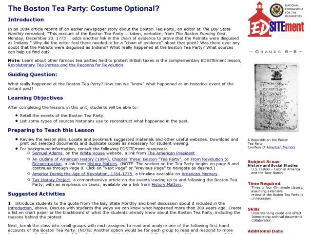 best the boston tea party images boston tea the boston tea party costume optional lesson plan lesson planet this would be