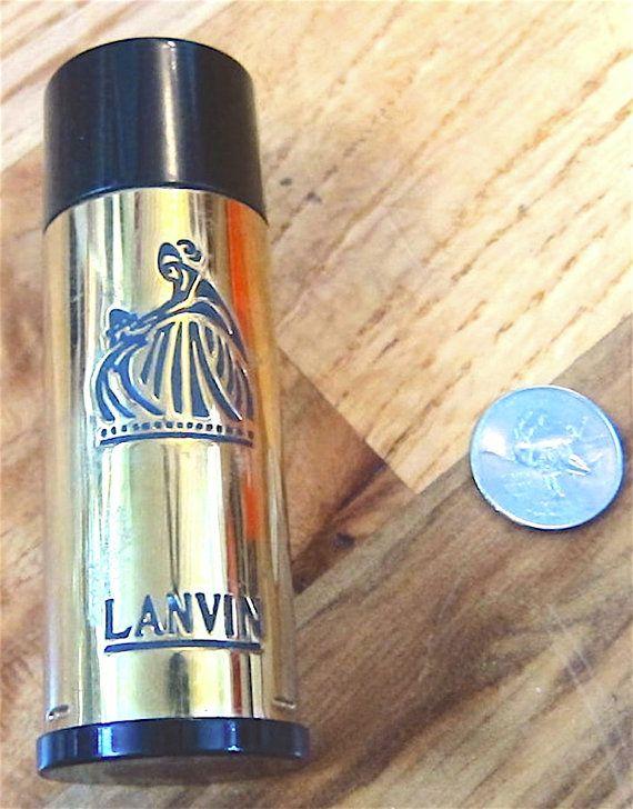Vintage Lanvin Perfume Bottle Held Arpege Introduced 1927 Gold