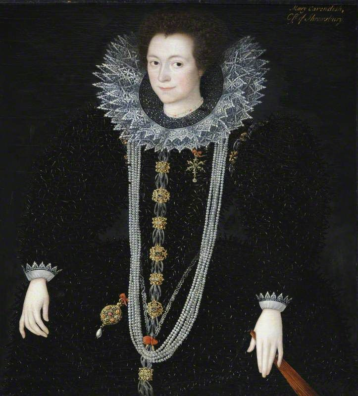 Possibly Anne Keighley (d.1598/1599), Mrs William Cavendish Marcus Gheeraerts the younger (1561/1562–1635/1636) National Trust, Hardwick Hall