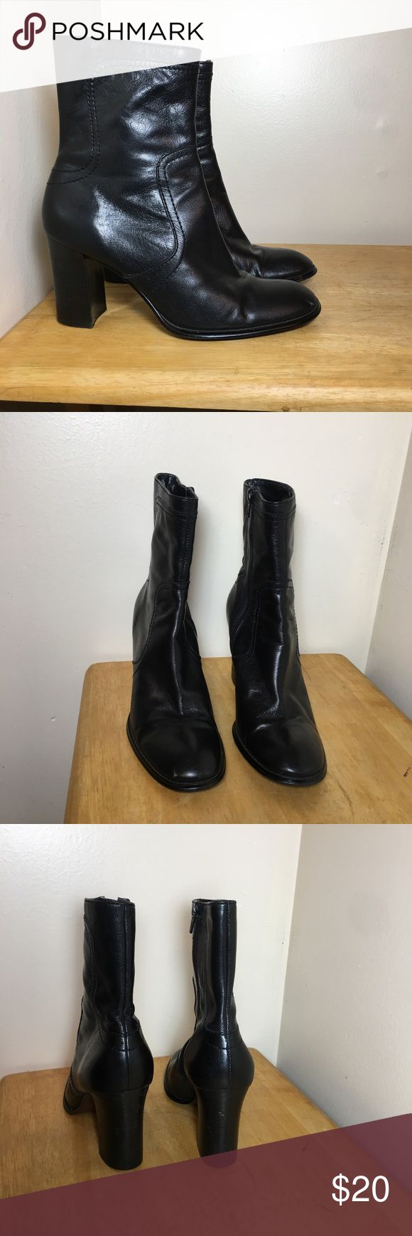 Black booties Black booties  Size 7 Great condition  Nine West Scrape mark Nine West Shoes Ankle Boots & Booties