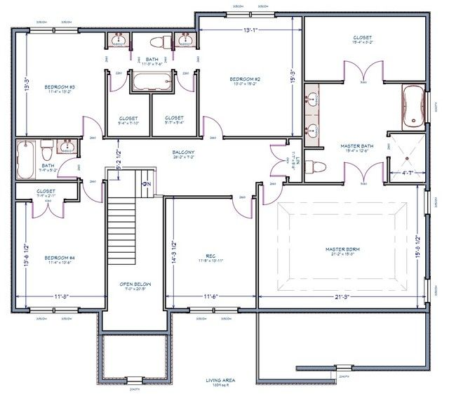 A little floor plan advice building a home forum - Jack and jill bathroom plans ...
