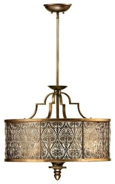 Transitional Quorum French Damask 24 Wide Vintage Pewter Pendant Light Traditional Lighting Flooring Pinterest