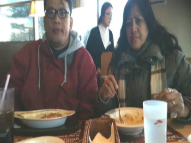 Pizza Hut, Seoul Station, Korea  , 2/8/2015 Late Lunch before heading to the airport for our flight back to Manila