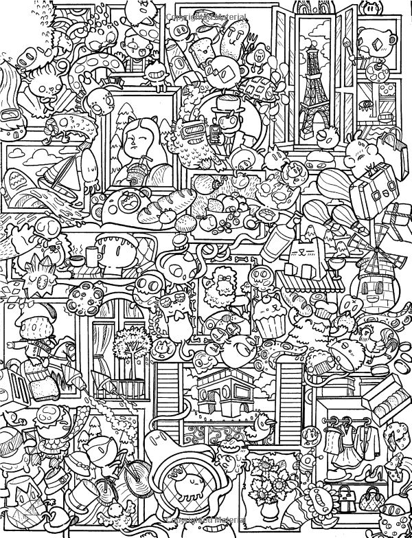 414 Best Doodle Invasion Coloring Pages Images On Pinterest