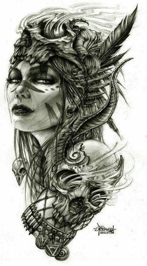 Viking Female Warrior Tattoo Recherche Google Daisy Tattoos