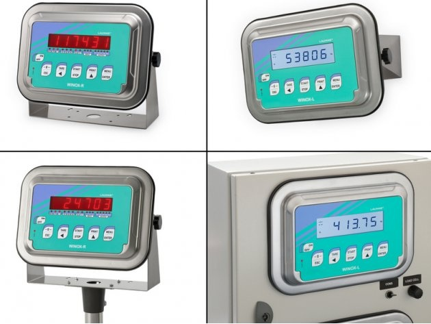 LAUMAS is glad to announce WINOX the new weight indicator and batching system . WINOX is stainless steel made IP68, can be mounted equally easy on the front panel, wall, column or table, maintaining nevertheless an extremely high level of IP protection. This installation flexibility means that the customer can purchase the equipment without needing to know in advance, at the time of placing the order, the type of installation that will be necessary.
