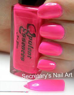 Secretary`s Nail Art: Opulent Essences - Taste The Rainbow Collection - Strawberry
