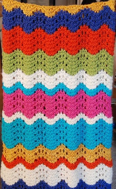 knitted blanket- in shades of cream/tan