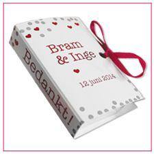 Tic tac boekje is een verfrissend huwelijks bedankje. Leuk om weg te geven