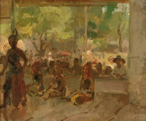 Isaac Israels (1865-1934) | In the Pendopo: a Javanese dance performance Painted circa 1921-22 | 1900s, Paintings | Christie's
