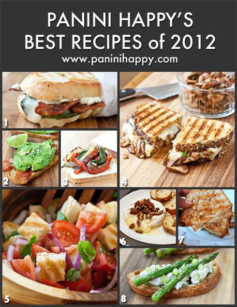 Panini Happy's Best Panini Recipes of 2012 | Panini Happy®. Got one for Christmas :)