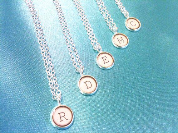 typewriter necklaces. bridesmaids gift?