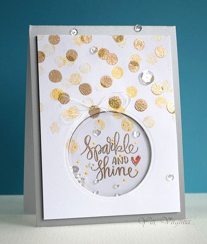 Sparkle and shine by Virginia Lu using the December 2014 card kit by Simon Says Stamp.